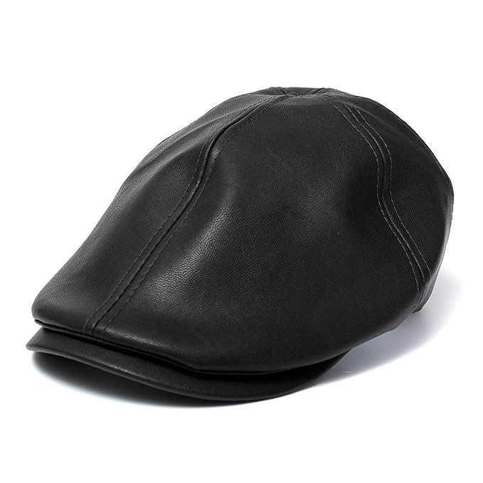 PODOM - Gorra Ivy soporte de hombre de piel de hombre sombrero newsboy  boina Cabbie Gatsby Golf gorro (talla única) e791d47d49a