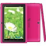 Yuntab Q88 7 Inch Allwinner A33,1.5 Ghz Quad Core Google Android Tablet PC,512MB+8G,Dual Camera,WiFi,Bluetooth,Mini USB,G-Sensor,Support SD/MMC/TF Card(Pink)