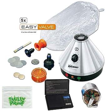 Premium Volcano Vaporizer Classic w Easy Valve Kit, Scale, Mill Grinder,  Baggie