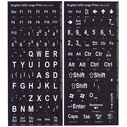 VIZIFLEX Large Print Keyboard Stickers