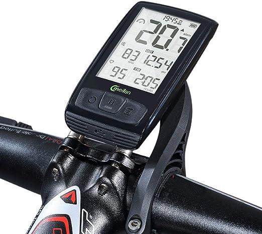 AXDNH Ordenador de Ciclismo, Ordenador de Bicicleta Multifunción Bicicleta de montaña Bicicleta de Carretera computadora de frecuencia cardíaca Bluetooth Impermeable (inalámbrico): Amazon.es: Hogar