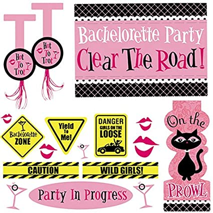 Amazon Bachelorette Party Car Decorating Kit 18pc Toys Games