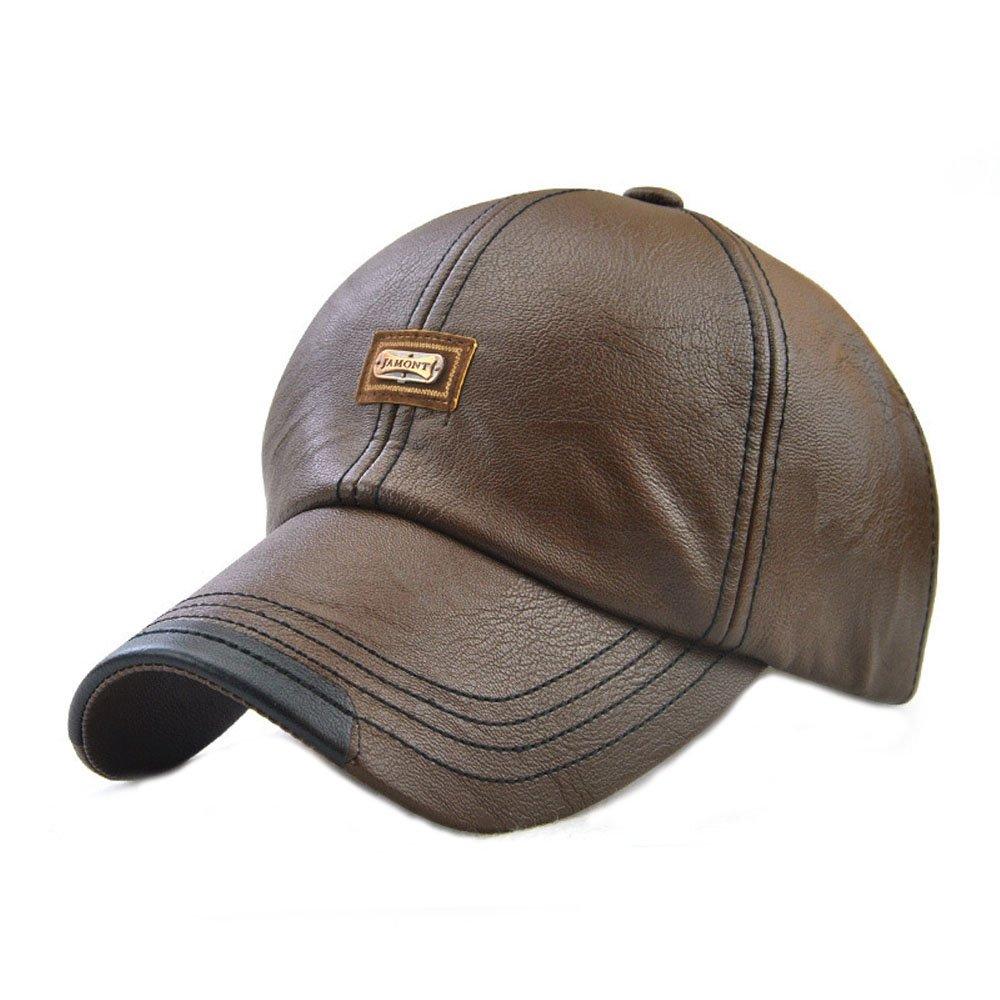 King Star Men Vintage Winter Warm Leather Adjustable Baseball Cap H12966-1