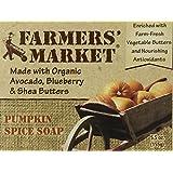 Farmers' Market Natural Bar Soap, Pumpkin Spice, 5.5 Ounce (Pack of 2)