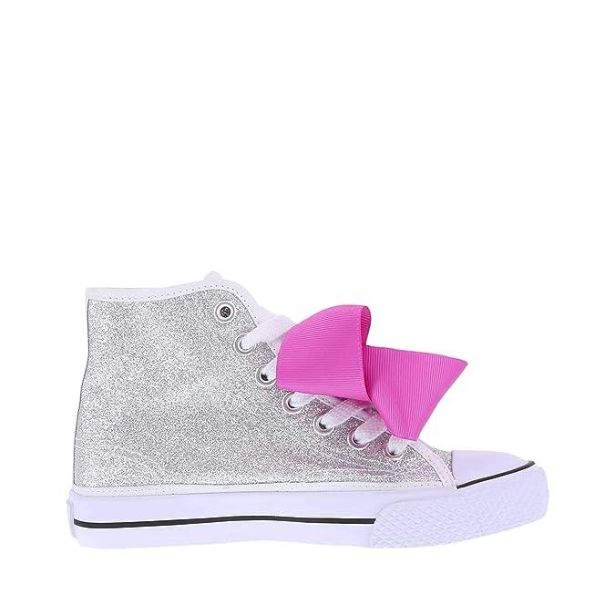 Amazon.com: Nickelodeon Shoes Silver Girls JoJo Legacee Sneaker High-Top 2 Regular: Shoes
