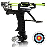 COOY Slingshot,Wrist Sling Rocket Professional Hunting Slingshot with Heavy Duty Launching Bands, High Velocity Catapult …