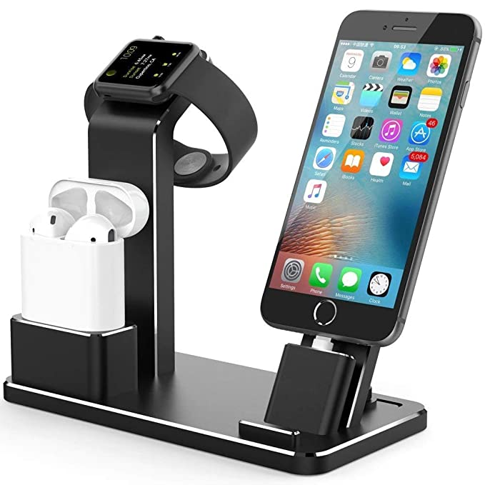 size 40 ba086 8f2c4 LivePow Apple Watch Stand Charging stand Dock Station AirPods Stand  Charging Docks Holder, Support Apple Watch NightStand Mode and iPhone ...