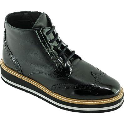 b0b2ee0716e Angelina® HERGOTTE Boots Compensé Lace Up Et Semelle en Mousse Légère  Chaussures Bottines Femme Marque