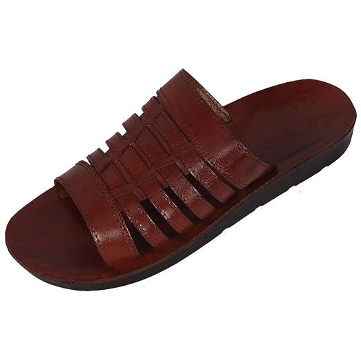 Brown Genuine Leather Roman Jesus Sandals #212 Sizes US Womens 6-14 EU 36-46 (US Womens 10 EU 42)