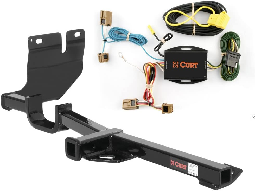 CURT Class 1 Trailer Hitch Bundle with Wiring for 2007-2012 Nissan Versa 11348 /& 56021