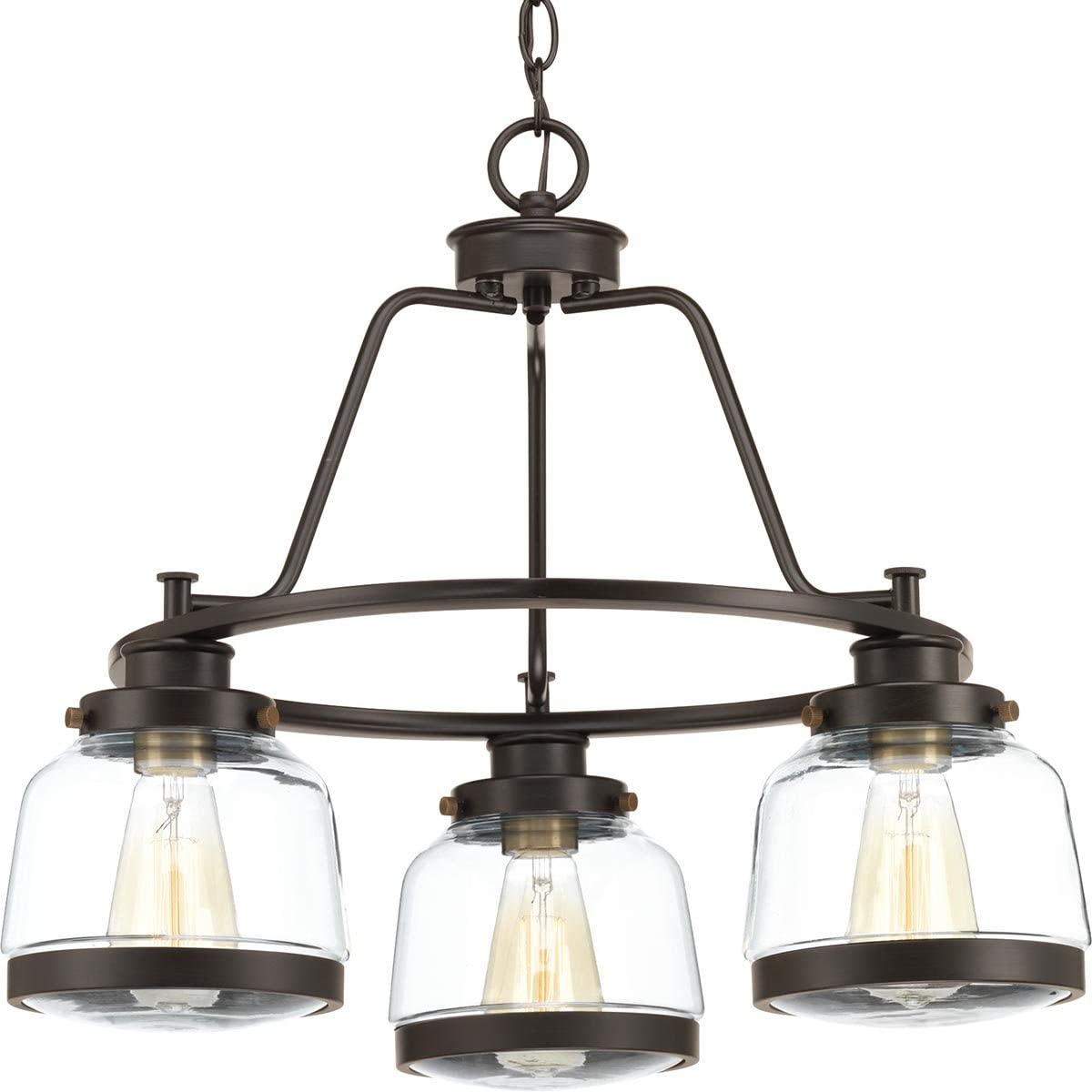 Progress Lighting P400057-020 Judson Three-Light Chandelier, Antique Bronze