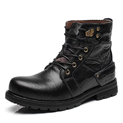 6c7ac99401b Amazon.com : HYLFF Unisex Adult Chelsea Boots Men Winter Warm Boots ...