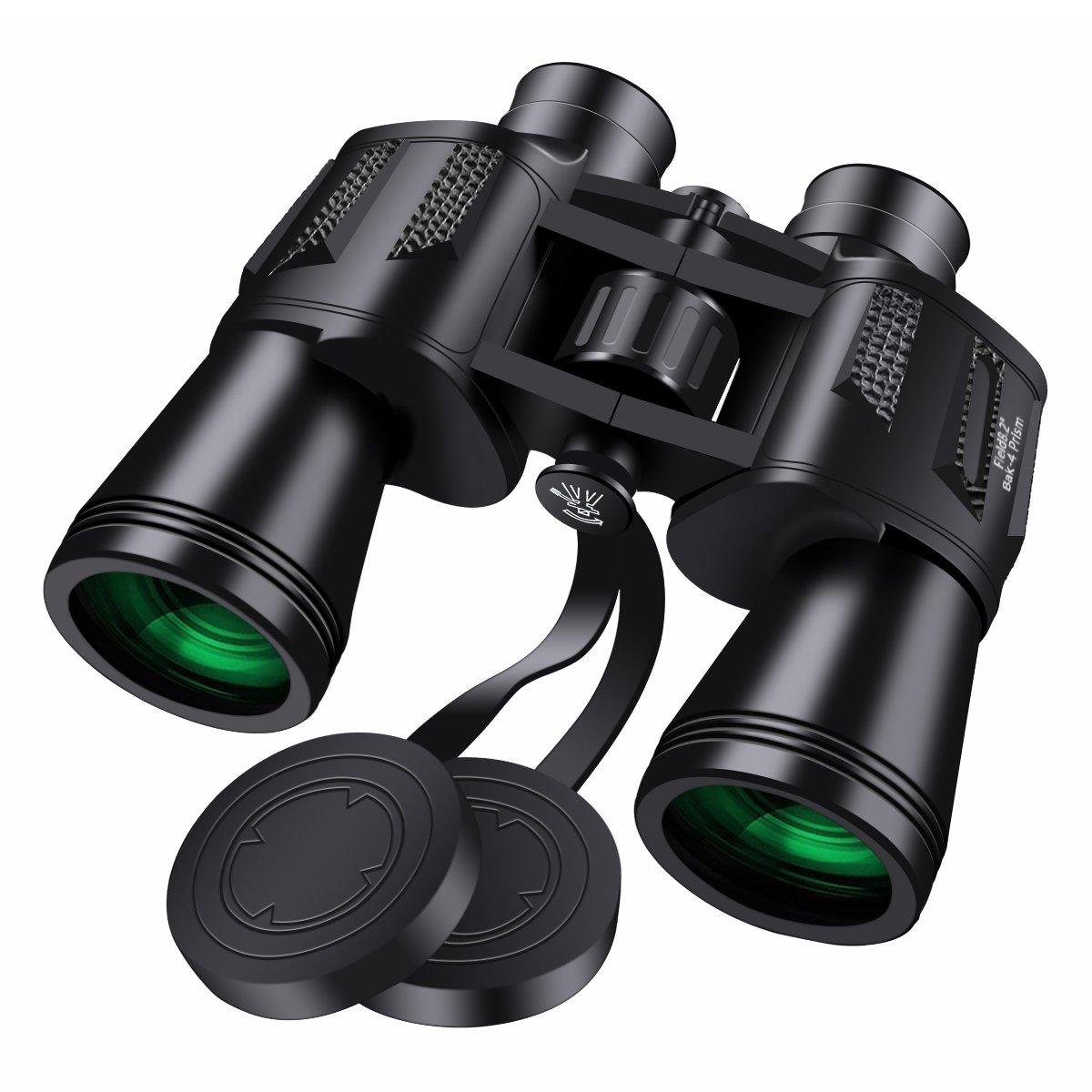 Binoculares 10 x 50, SGODDE Binoculares de Ampliación, Zoom Impermeable Ultra HD FM para la Observación de Aves Paisaje de Caza de Fútbol con Tragetasche ...