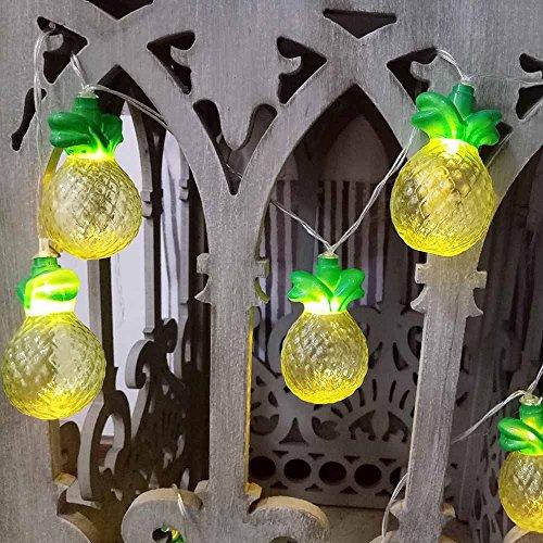 Coohole 10LEDs Pineapple Shaped String Light LED Fairy Light Christmas String Light Wedding Family Party Decor (A)