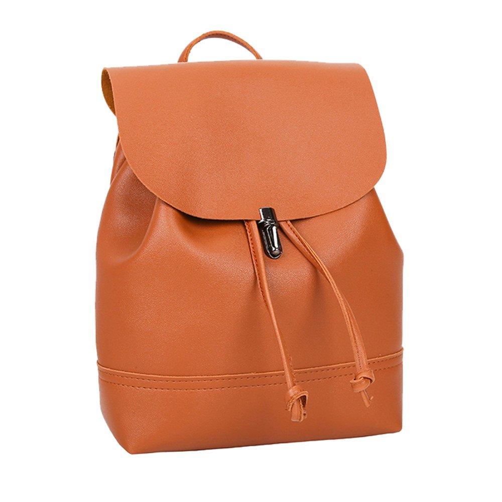 Amazon.com: Goddessvan Vintage Satchels Pure Color Leather ...