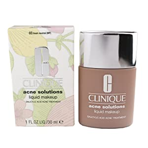 Clinique/Acne Solutions Liquid Makeup 03 Fresh Neutral 1.0 Oz 1.0 Oz Acne Solutions Foundation 1.0 Oz