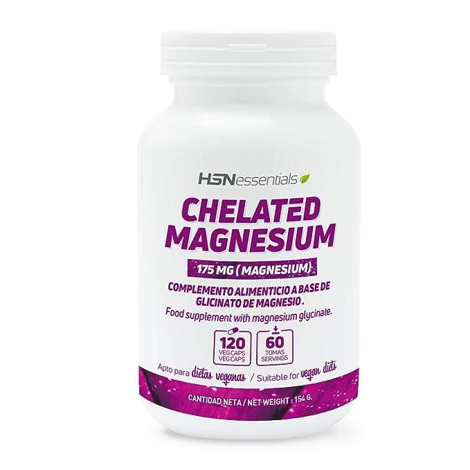 Glicinato de Magnesio de HSN Essentials- 350mg de Magnesio de Alta Biodisponibilidad - Suplemento para proteger los huesos, reducir el cansancio y fatiga, ...