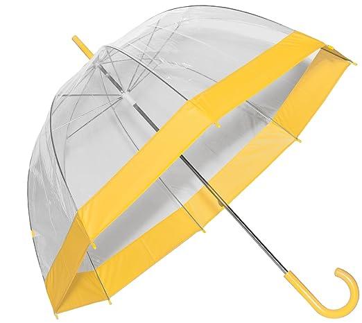 Clear Bubble Umbrella with Colored Trim