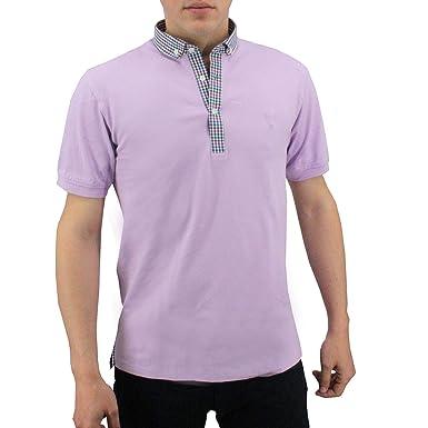 Meadrine - Polo para Hombre con Cuello de Camisa, Color Verde ...