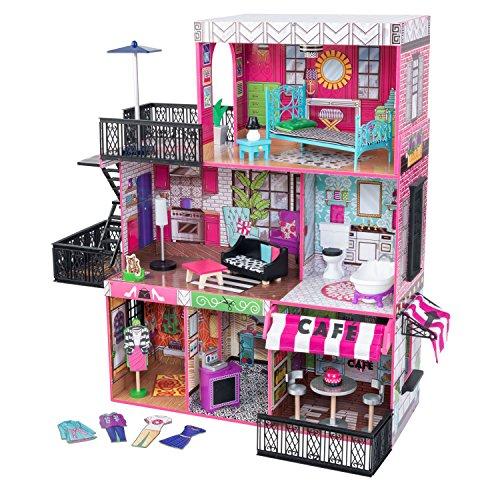 61toOAqOjsL - KidKraft So Chic Dollhouse with Furniture