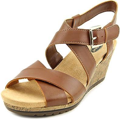 Dr. Scholl's Women's Bracket Wedge Sandal,Dark Saddle ...