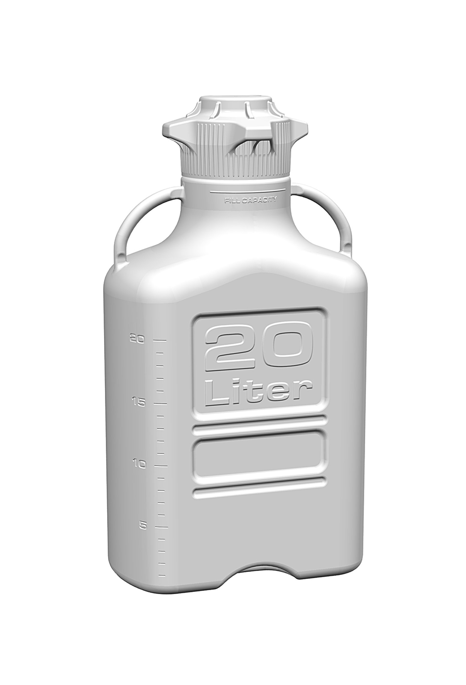 EZgrip 20L (5 Gal) Autoclavable Polypropylene Space Saving Carboy with Wide Mouth 120mm VersaCap and 26.5L Max Capacity