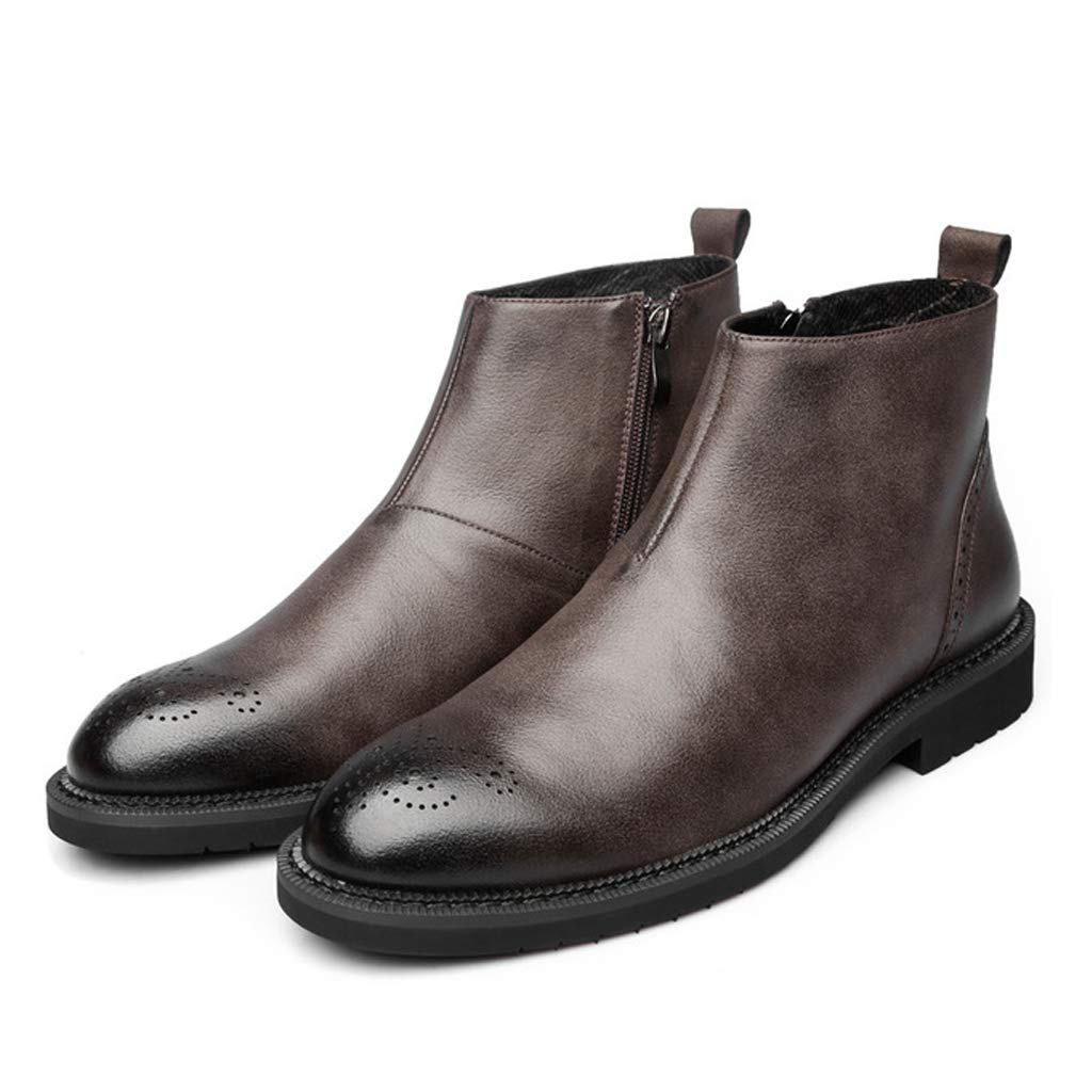 Brown Men's Short Boots Classic Martin Boots Chelsea Boots Comfortable Work shoes Casual Ankle Boots