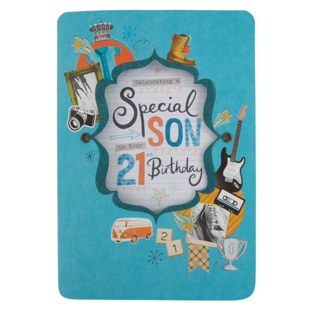 Son 21st Birthday Card Amazoncouk Kitchen Home – Son 21st Birthday Cards