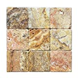 Scabos Travertine 4 X 4 Tile, Tumbled - Lot of 50 sq. ft.