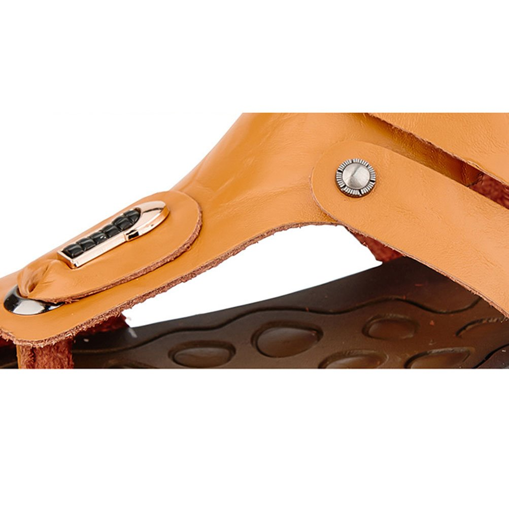 Männer Sandalen Flip Casual Flop Sommer Strand Schuhe Casual Flip Dual-Use-Sandalen Innen-Und Outdoor-Outdoor-Kletterschuhe,Braun,44 - 397498