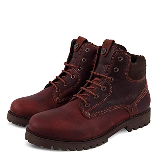 f09178c66ecc5 Wrangler Scarpe Uomo Stivali Yuma Light in Pelle Bordeaux WM182007-BUR   Amazon.co.uk  Shoes   Bags