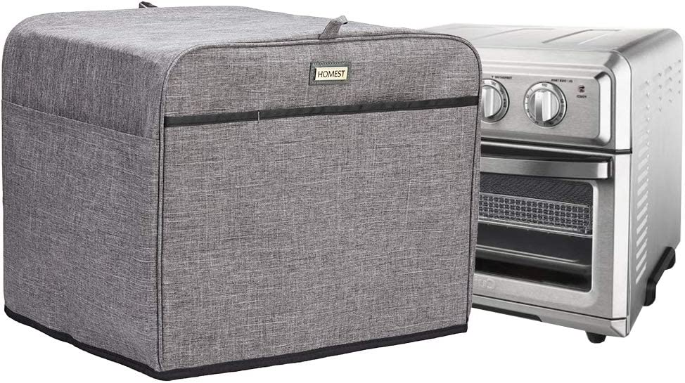 HOMEST Toaster Oven Dust Cover with Accessory Pockets Compatible with Cuisinart TOA-60 Convection Toaster Oven, Grey (Patent Pending)