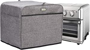 HOMEST Toaster Oven Dust Cover with Accessory Pockets Compatible with Cuisinart TOA-60 Convection Toaster Oven, Grey