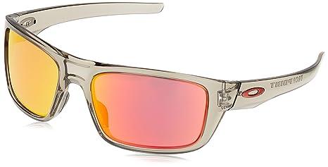 Oakley Drop Point Gafas de Sol, Hombre, Gris (Grey Ink/Rubyiridium)