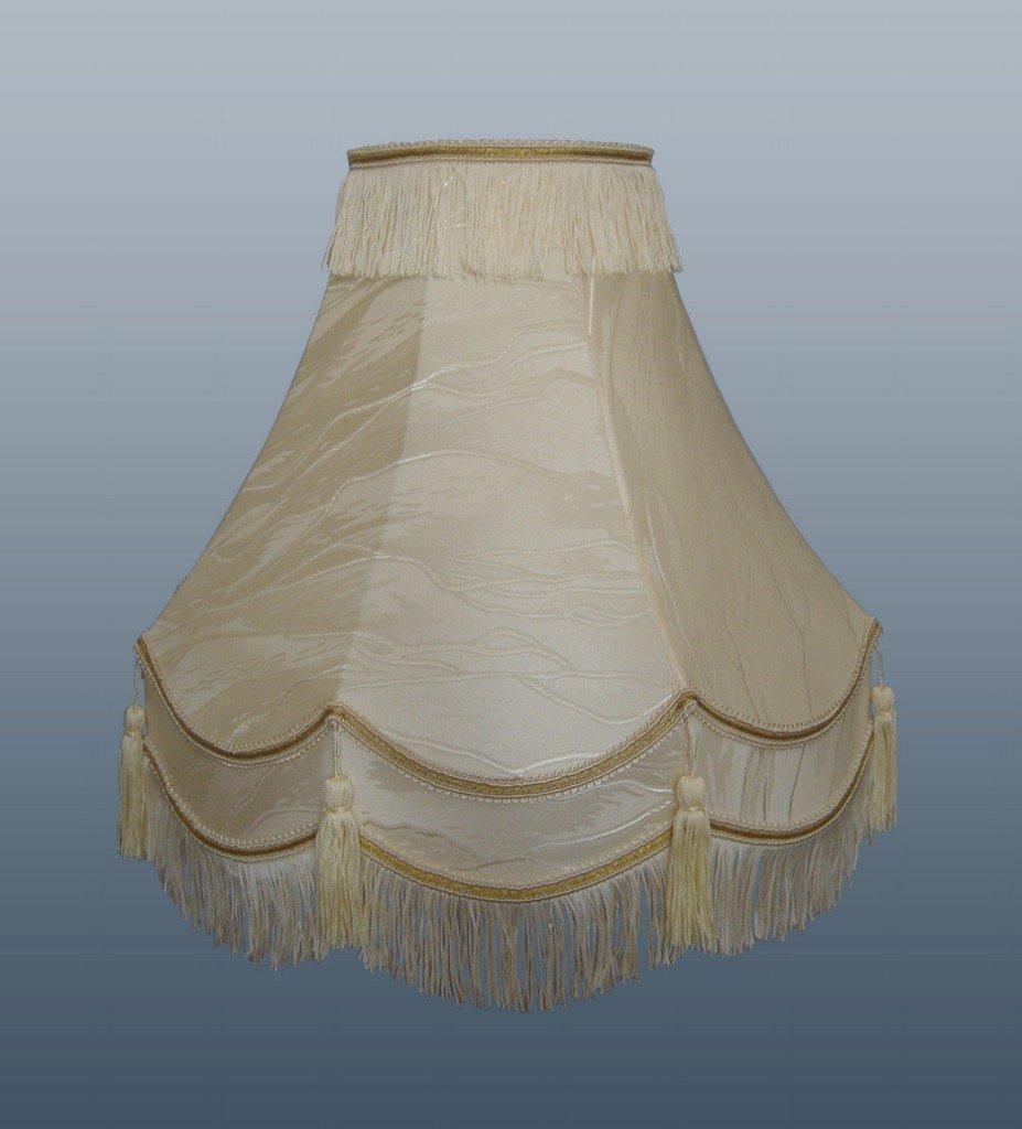 traditional fully lined cream gold lamp shade tassel light. Black Bedroom Furniture Sets. Home Design Ideas