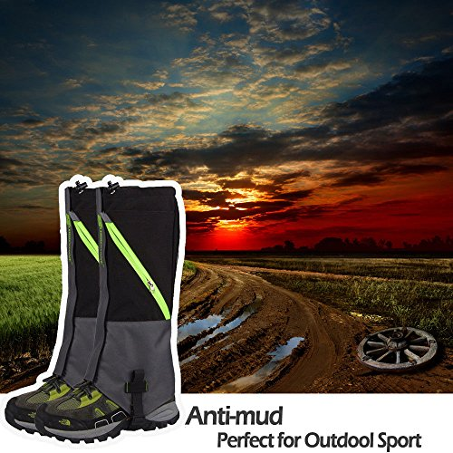 IC ICLOVER Outdoor Leg Gaiters, Breathable Waterproof High Leg Legging Cover Snow Gators - Keep Water, Mud, Snow & Debris Out, Protect Against Sharp Rocks, Bush, Inserts - For Hiking Climbing Hunting by IC ICLOVER (Image #7)