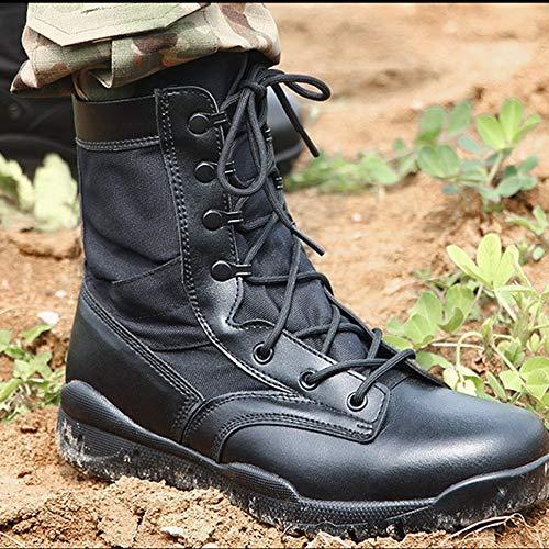 Boots Tattici Leggero Stivali Alta Nero Estate Aiuto Desert Outdoor Deserto Traspirante Uomo snfgoij Black Militari gqYwpScOw5