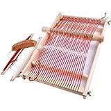 LUERME 手織り機 卓上手織機 編み機 はたおりき 卓上織り機 糸付き 扱いやすい 簡単 説明書付
