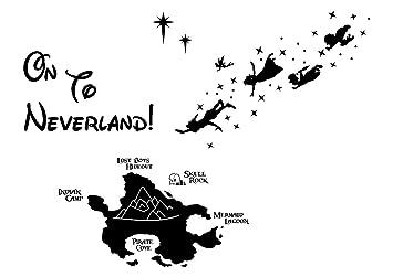 Disney Wandsticker Peter Pan Wandaufkleber Disney Charaktere Amazon