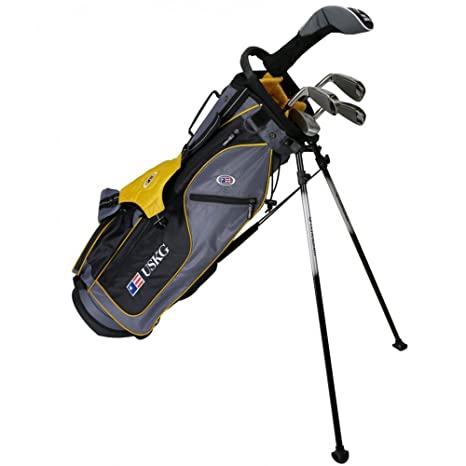 US Kids 2017 Golf Ultra Light, 5 Club Carry Golf Set with Bag, Grey/Gold, Right Hand (63
