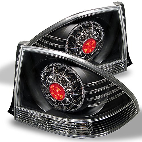 For 01-05 Lexus IS300 Altezza 4 Doors Sedan Black Bezel LED Tail Lights Brake Lamps Outer Piece Pair