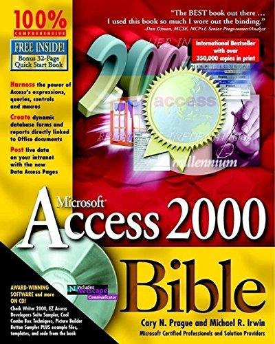 Microsoft Access 2000 Bible by Cary N. Prague (1999-05-21)