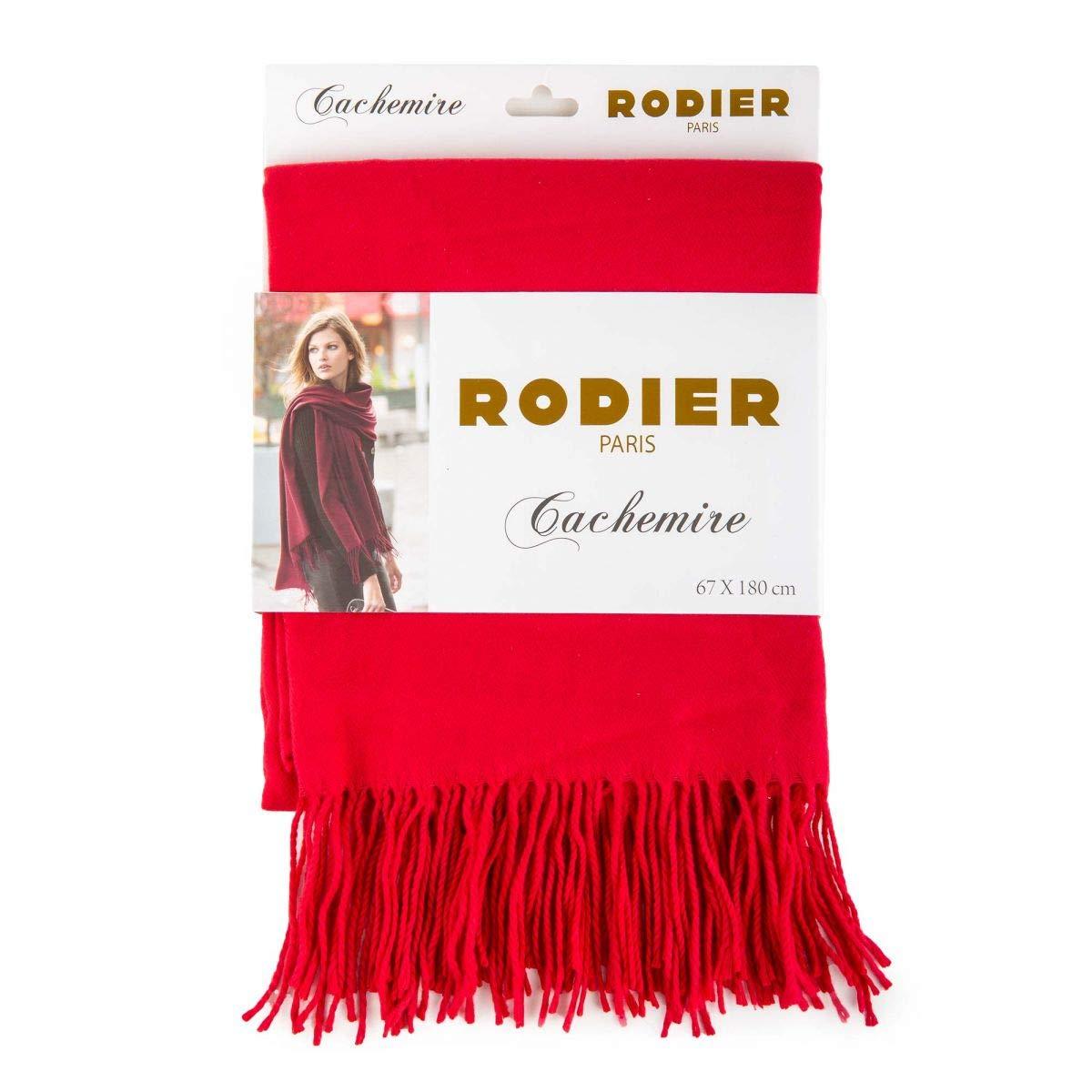 Rodier Echarpe cachemire 180cm x 67cm Femme ROUGE - 180  Amazon.fr   Vêtements et accessoires fbf4a602cab