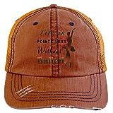 Life Is Pointe-less Hat, Without Ballet Trucker Cap (Trucker Cap - Orange)