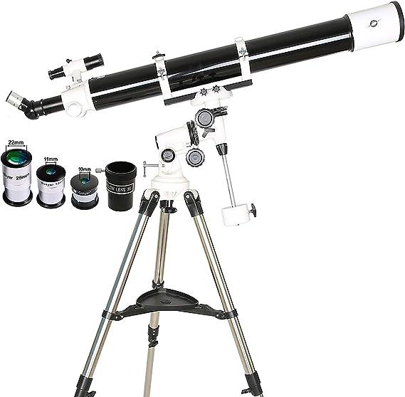 WUAZ Telescopio Refractor, Totalmente óptica revestida de Vidrio, los telescopios de astronomía para Profesionales, con el trípode Ajustable y Bolsa de Transporte: Amazon.es: Hogar