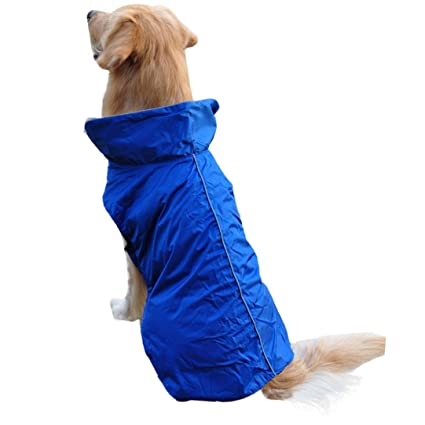 Voberry Universal Waterproof Fleece Pet Dog Outdoor Winter Padded Vest Jacket Coat (S, Blue