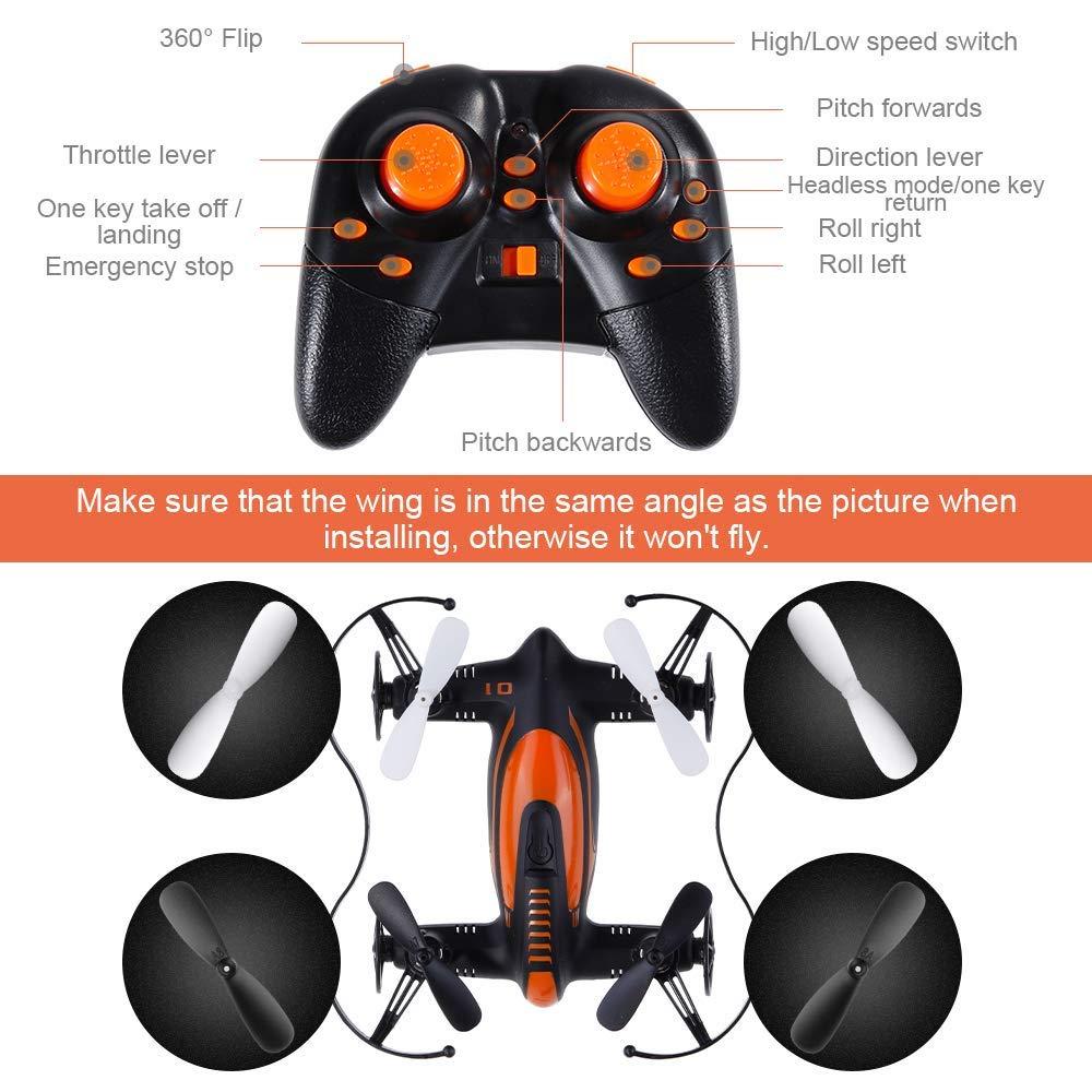 LLLLDDLLLDM Kids Mini Drone 2.4G a 6 Assi Mini Drone per Bambini Telecomando Funzione di Tre modalit/à di Volo Drone per Principianti Buon Regalo per Bambini