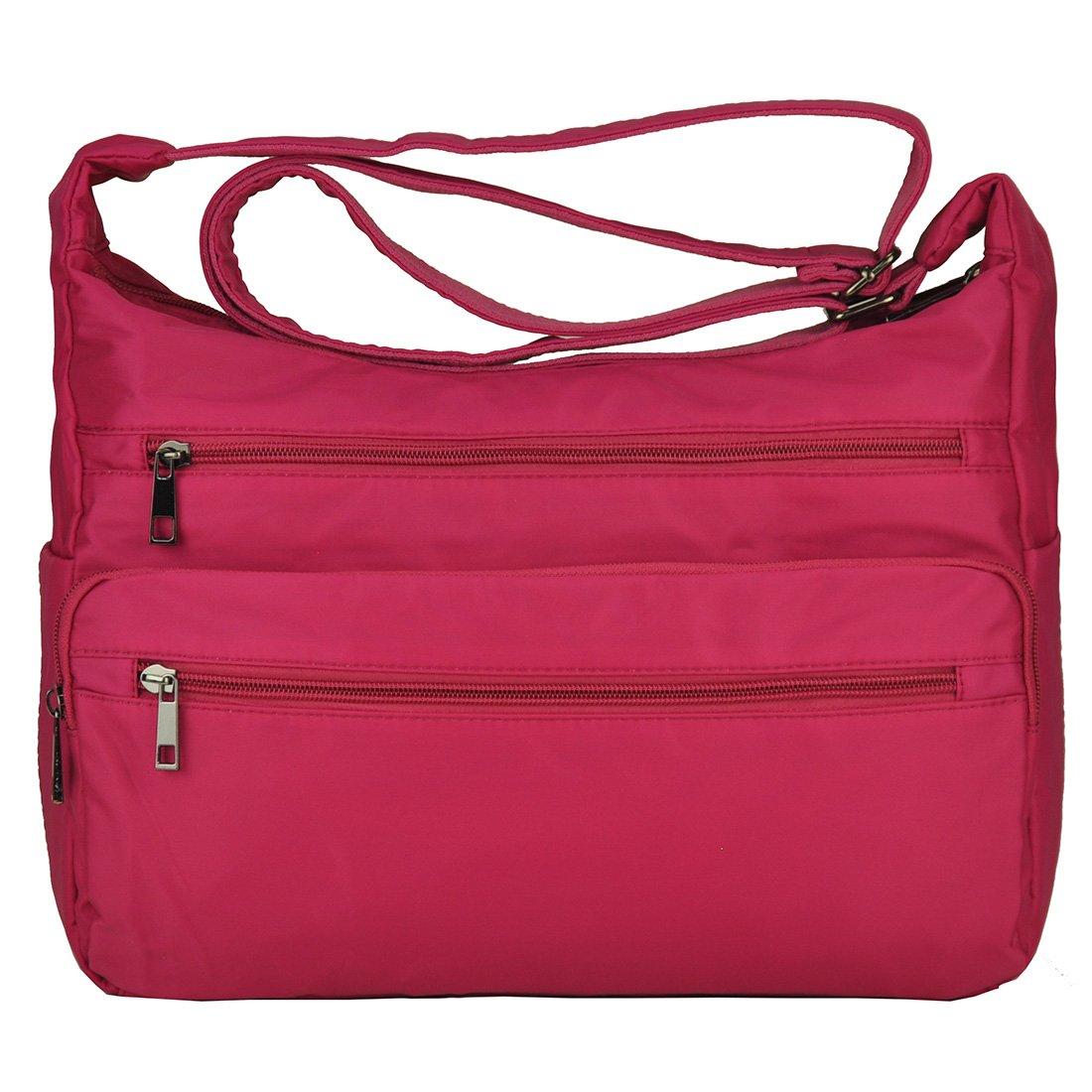 Volcanic Rock Lightweigh Shoulder Bags Messenger Handbags Multi Pocket Nylon Waterproof Crossbody Bags