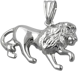 Anhänger Löwe aus echtem 925 Silber rhodiniert Silberanhänger Unisex
