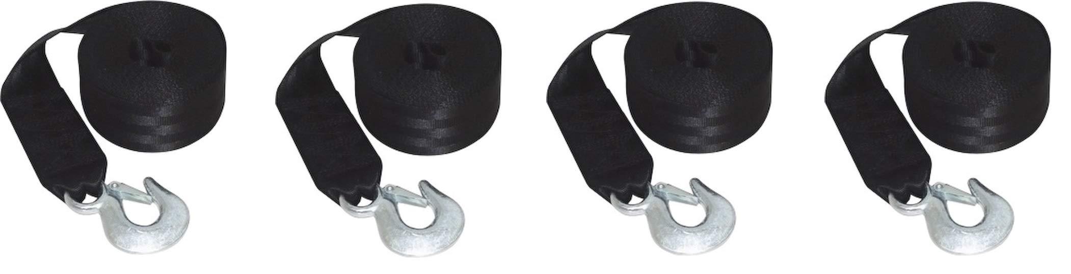 SeaSense Heavy Duty Winch Strap, 24-Foot (Pack of 4) by SeaSense